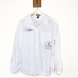 Vintage Ralph Lauren Jeans Company White button up